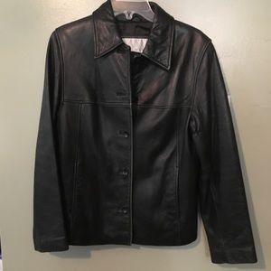 Nine West Black Leather Jacket🌻
